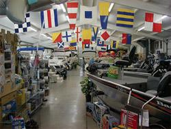 Stokley's Marine showroom