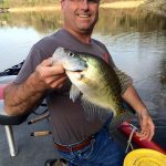 big crappie on a Tracker Pro Team 175 TXW aluminum bass fishing boat