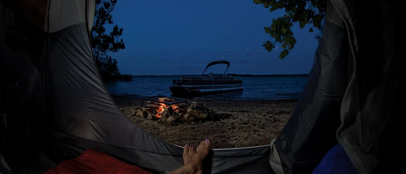 shoreline campfire