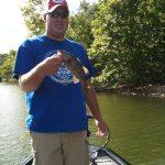 smallmouth bass fishing on tracker aluminum boat