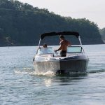 crownline bowrider on the lake